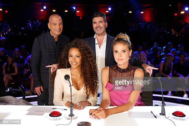 S GOT TALENT 'Live Results 2' Episode 1114 Pictured Howie Mandel Mel B Simon Cowell Heidi Klum