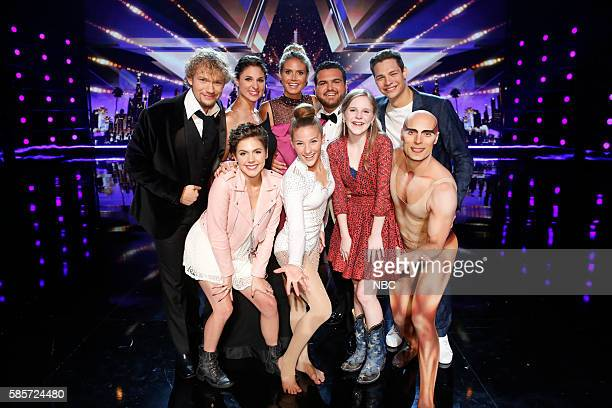 S GOT TALENT Live Results 2 Episode 1114 Pictured The Clairvoyants Calysta Bevier Heidi Klum Sofie Dossi Sal Valentinetti Kadie Lynn Steven Brundage...