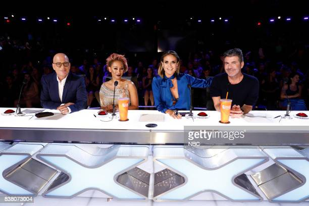 S GOT TALENT 'Live Results 2' Pictured Howie Mandel Mel B Heidi Klum Simon Cowell