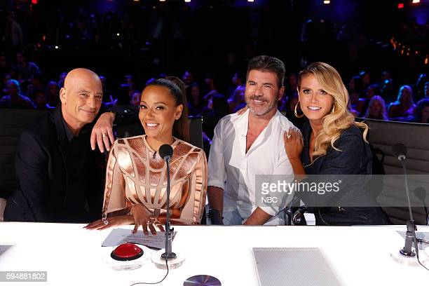 S GOT TALENT 'Live Results 3' Episode 1117 Pictured Howie Mandel Mel B Simon Cowell Heidi Klum