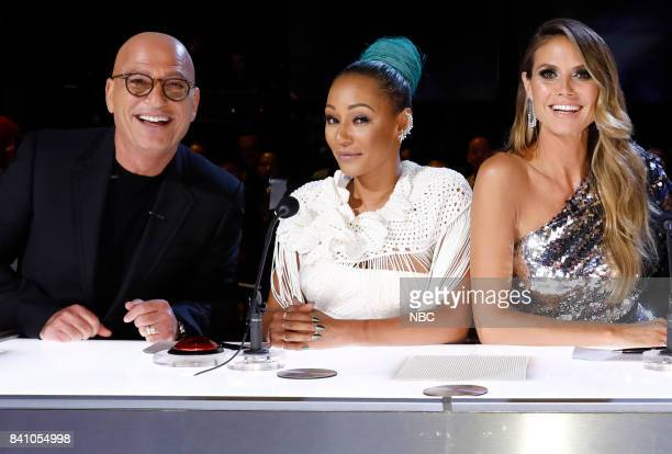 S GOT TALENT 'Live Results 4' Pictured Howie Mandel Mel B Heidi Klum