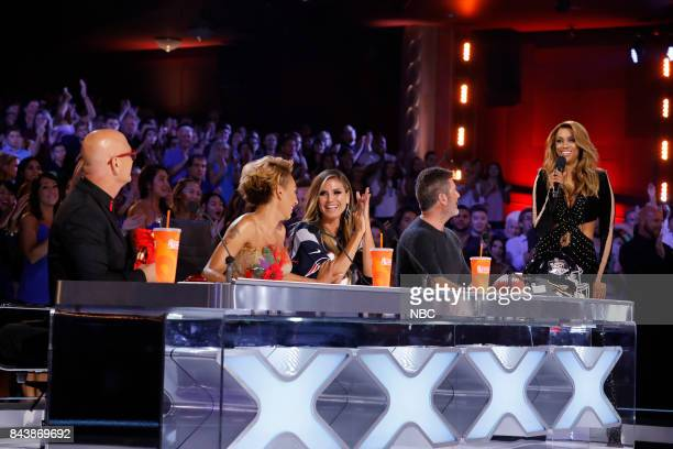 S GOT TALENT 'Live Results 4' Pictured Howie Mandel Mel B Heidi Klum Simon Cowell Tyra Banks