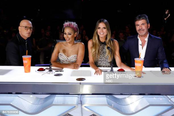 S GOT TALENT 'Live Results 5' Episode 1222 Pictured Howie Mandel Mel B Heidi Klum Simon Cowell