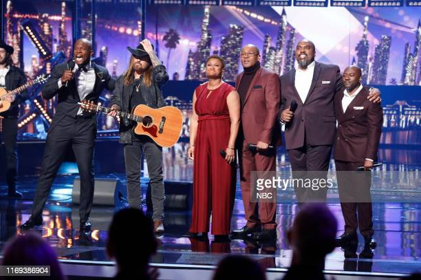 """S GOT TALENT """"Live Results Finale"""" Episode 1423 Pictured Terry Crews Billy Ray Cyrus Voices of Service"""
