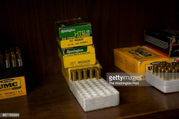 Live rounds that will be used in the newly acquired bullet trap where on average 30 guns a week will be fired to get a fired shell casing to scan and...