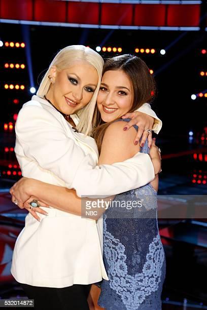 THE VOICE 'Live Semi Finals' Episode 1017B Pictured Christina Aguilera Alisan Porter