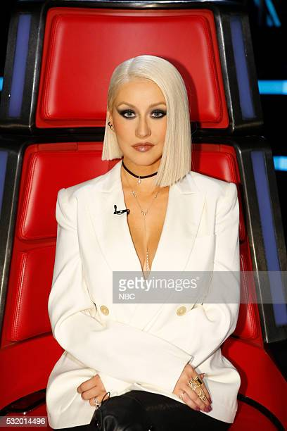THE VOICE Live Semi Finals Episode 1017B Pictured Christina Aguilera