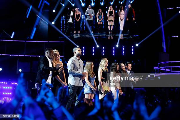 "Live Semi Finals"" Episode: 1017B -- Pictured: Paxton Ingram, Mary Sarah, Bryan Bautista, Alisan Porter, Hannah Huston, Shalyah Fearing, Laith..."