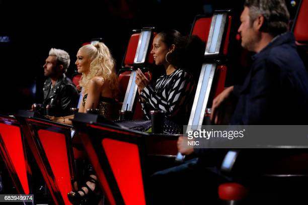 THE VOICE 'Live Semi Finals' Episode 1218B Pictured Adam Levine Gwen Stefani Alicia Keys Blake Shelton