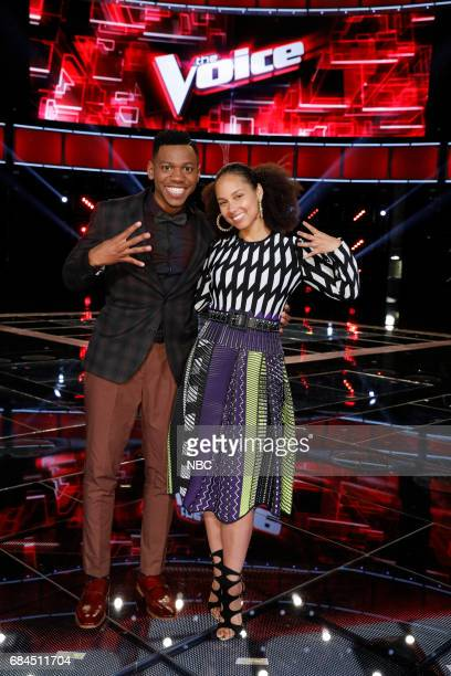 THE VOICE 'Live Semi Finals' Episode 1218B Pictured Chris Blue Alicia Keys