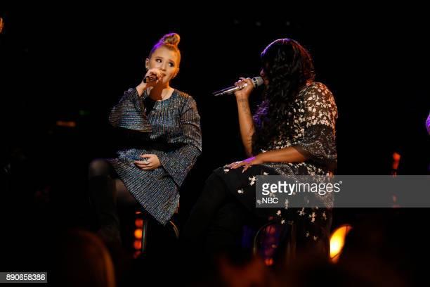 THE VOICE 'Live Semi Finals' Episode 1320A Pictured Addison Agen Keisha Renee