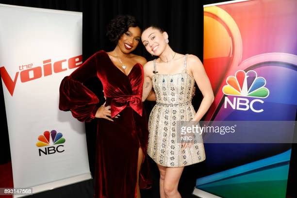 THE VOICE 'Live Semi Finals' Episode 1320A Pictured Jennifer Hudson Miley Cyrus