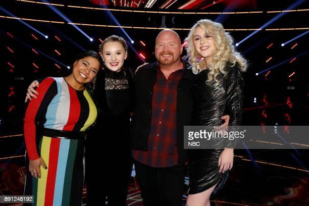 THE VOICE 'Live Semi Finals' Episode 1320B Pictured Brooke Simpson Addison Agen Red Marlow Chloe Kohanski