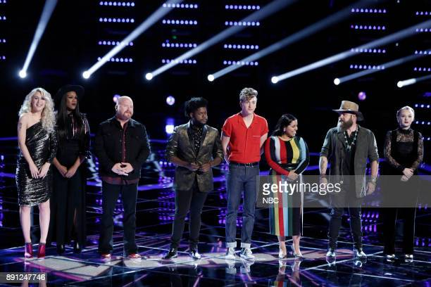 THE VOICE 'Live Semi Finals' Episode 1320B Pictured Chloe Kohanski Keisha Renee Red Marlow Davon Fleming Noah Mac Brooke Simpson Adam Cunningham...