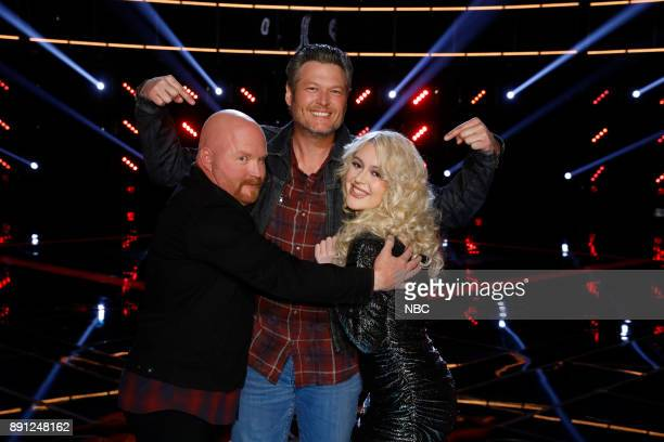 THE VOICE 'Live Semi Finals' Episode 1320B Pictured Red Marlow Blake Shelton Chloe Kohanski