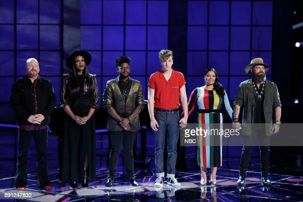 THE VOICE 'Live Semi Finals' Episode 1320B Pictured Red Marlow Keisha Renee Davon Fleming Noah Mac Brooke Simpson Adam Cunningham