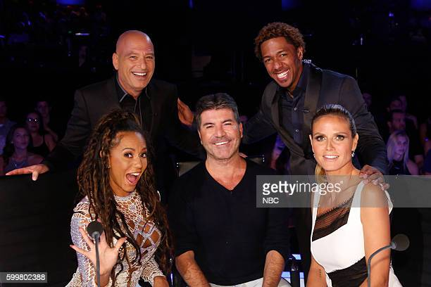 S GOT TALENT 'Live SemiFinals 2' Episode 1120 Pictured Mel B Howie Mandel Simon Cowell Nick Cannon Heidi Klum