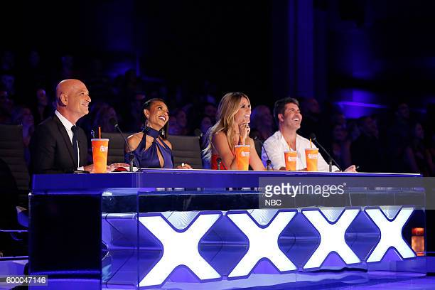 S GOT TALENT 'Live SemiFinals 2' Episode 1121 Pictured Howie Mandel Mel B Heidi Klum Simon Cowell