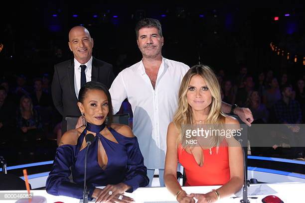 S GOT TALENT 'Live SemiFinals 2' Episode 1121 Pictured Howie Mandel Mel B Simon Cowell Heidi Klum