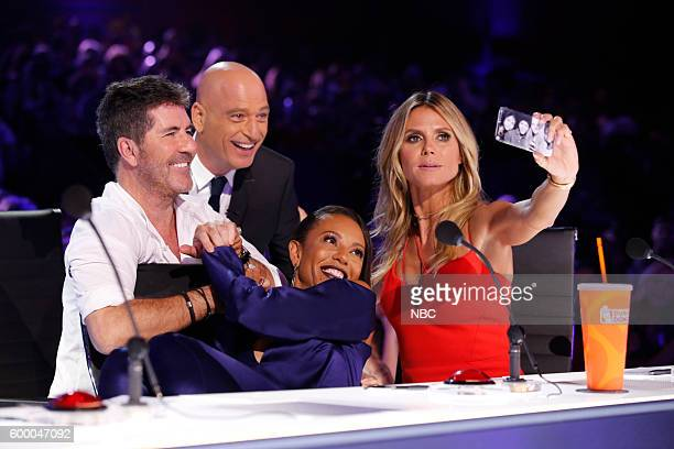 S GOT TALENT 'Live SemiFinals 2' Episode 1121 Pictured Simon Cowell Howie Mandel Mel B Heidi Klum