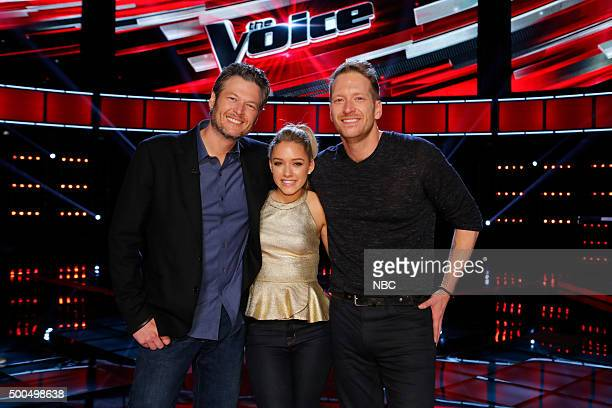 THE VOICE Live Semis Episode 917B Pictured Blake Shelton Emily Ann Roberts Barrett Baber