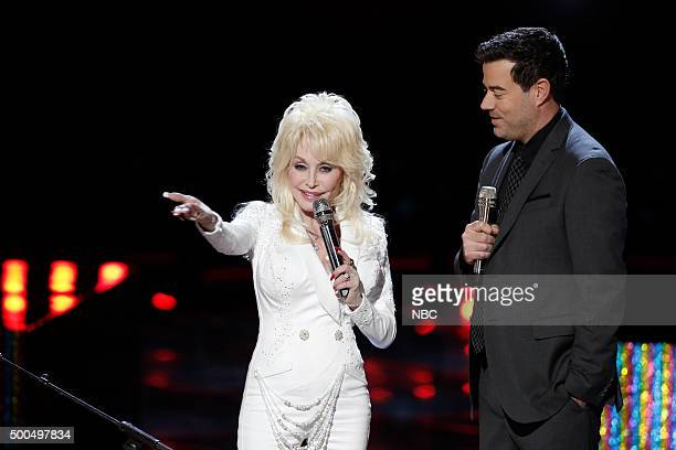THE VOICE Live Semis Episode 917B Pictured Dolly Parton Carson Daly