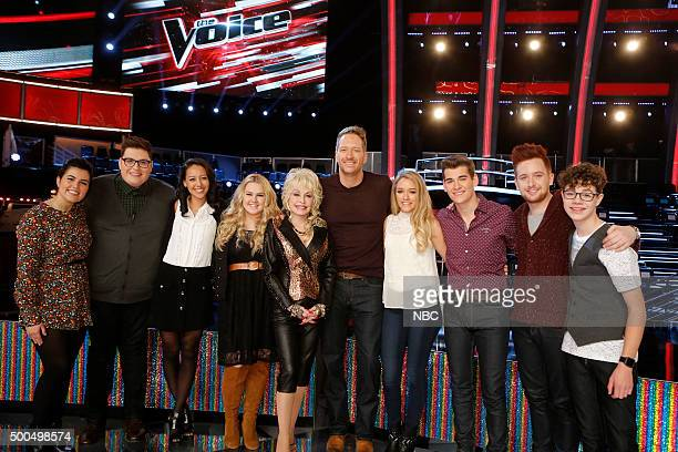 THE VOICE Live Semis Episode 917B Pictured Madi Davis Jordan Smith Amy Vachal Shelby Brown Dolly Parton Barrett Baber Emily Ann Roberts Zach Seabaugh...