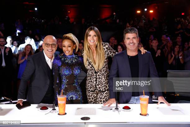 S GOT TALENT 'Live Show 1' Pictured Howie Mandel Mel B Heidi Klum Simon Cowell