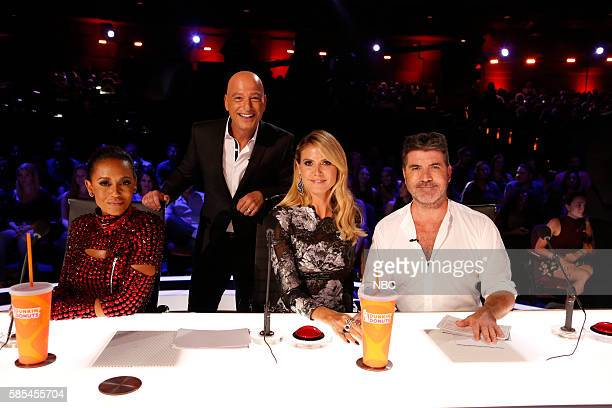 S GOT TALENT 'Live Show 2' Episode 1114 Pictured Mel B Howie Mandel Heidi Klum Simon Cowell