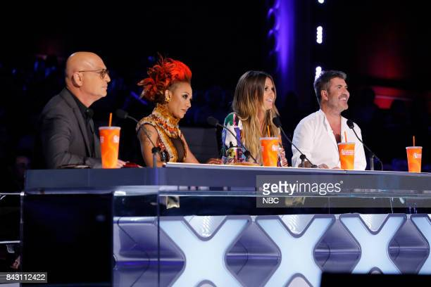 S GOT TALENT 'Live Show 4' Pictured Howie Mandel Mel B Heidi Klum Simon Cowell