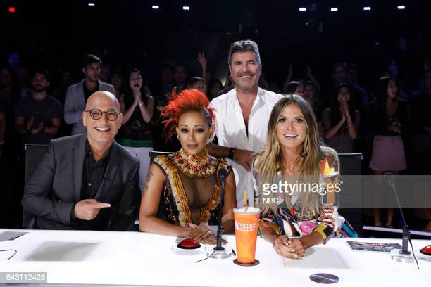 S GOT TALENT 'Live Show 4' Pictured Howie Mandel Mel B Simon Cowell Heidi Klum