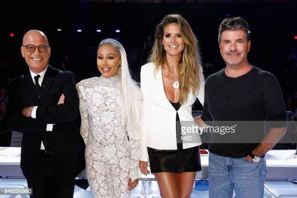 S GOT TALENT 'Live Show 5' Episode 1221 Pictured Howie Mandel Mel B Heidi Klum Simon Cowell
