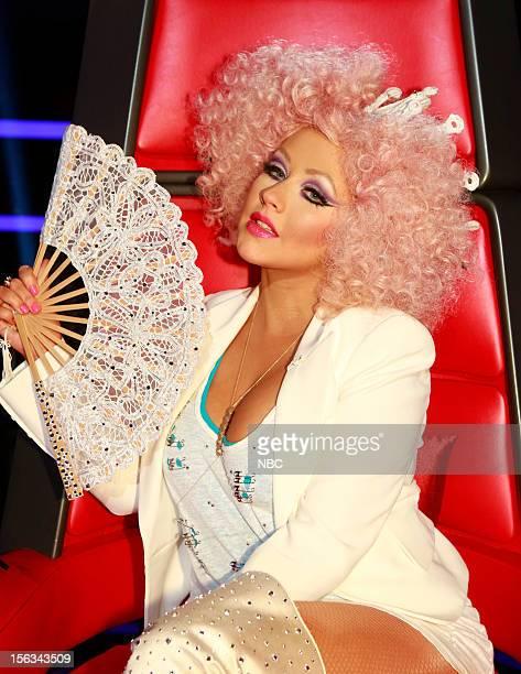 THE VOICE 'Live Show' Episode 318B Pictured Christina Aguilera