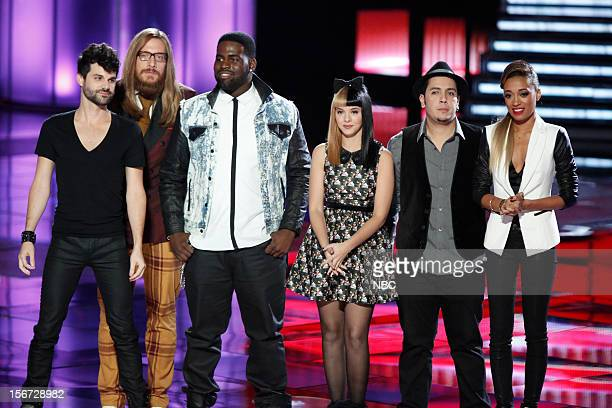 THE VOICE Live Show Episode 319A Pictured Cody Belew Nicholas David Trevin Hunte Melanie Martinez Bryan Keith Amanda Brown