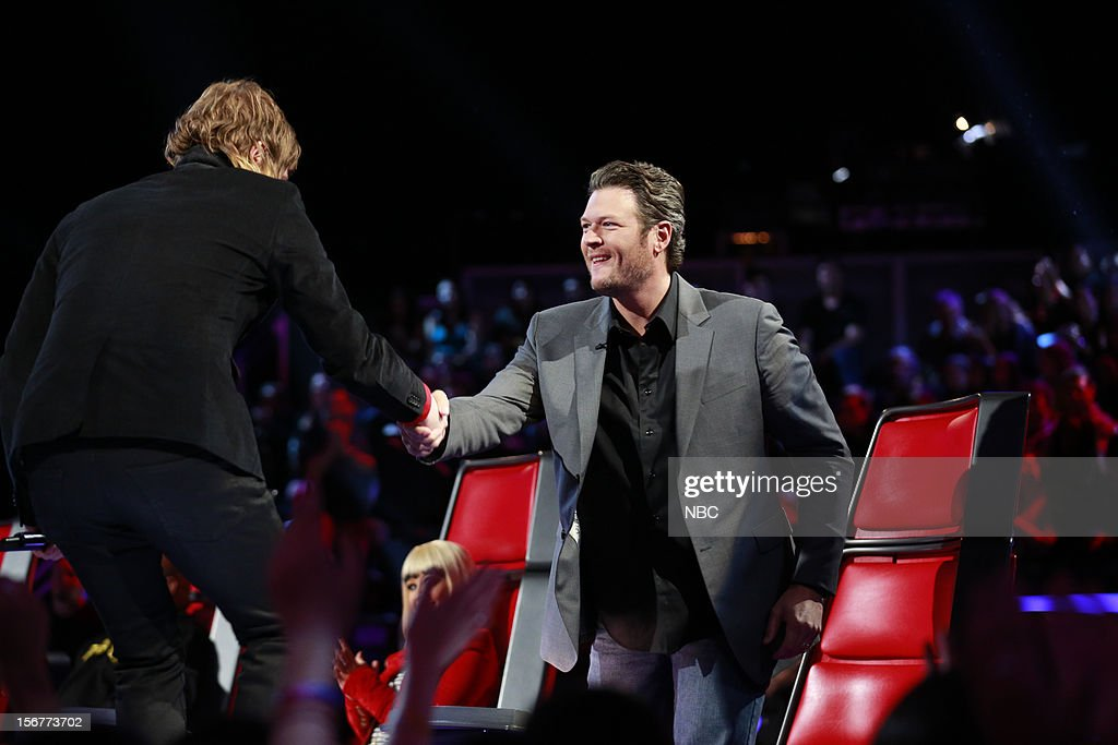 THE VOICE -- 'Live Show' Episode 319B -- Pictured: (l-r) Terry McDermott, Blake Shelton --