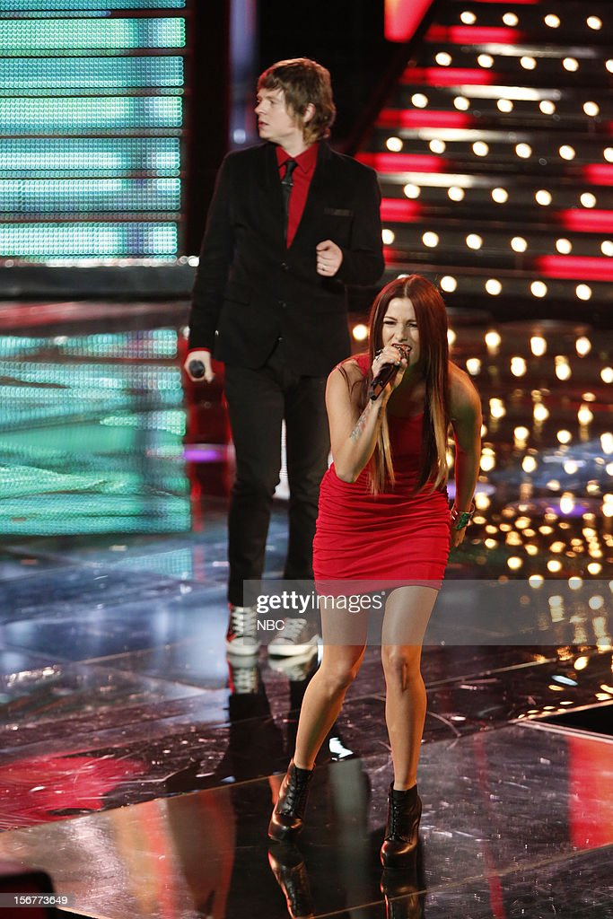 THE VOICE -- 'Live Show' Episode 319B -- Pictured: (l-r) Terry McDermott, Cassadee Pope --
