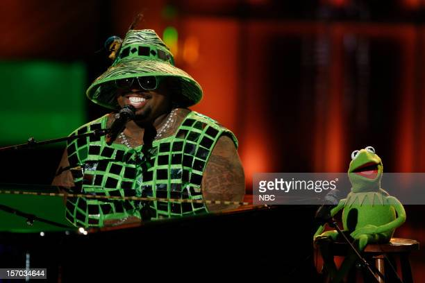 THE VOICE Live Show Episode 320B Pictured Cee Lo Green Kermit the Frog