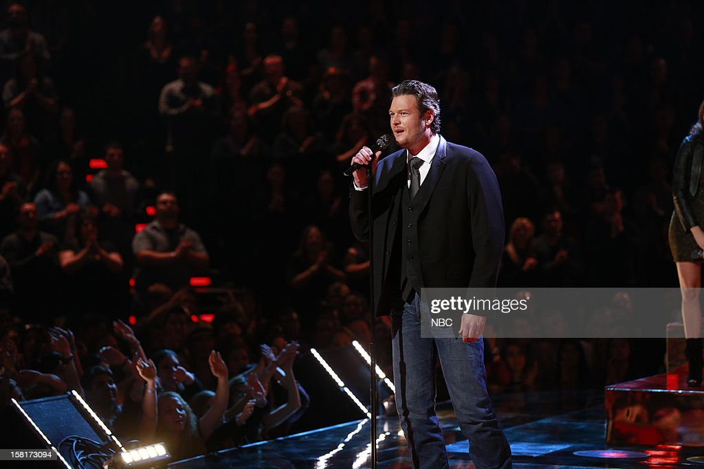 THE VOICE -- 'Live Show' Episode 322A -- Pictured: Blake Shelton --