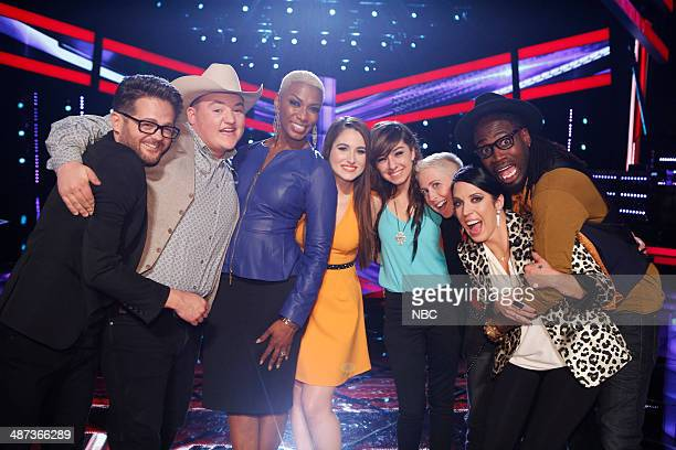 "Live Show"" Episode 618B -- Pictured: Josh Kaufman, Jake Worthington, Sisaundra Lewis, Audra McLaughlin, Christina Grimmie, Kristen Merlin, Kat..."