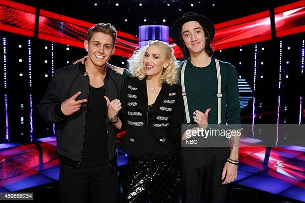 THE VOICE Live Show Episode 715B Pictured Ryan Sill Gwen Stefani Taylor John Wiliams