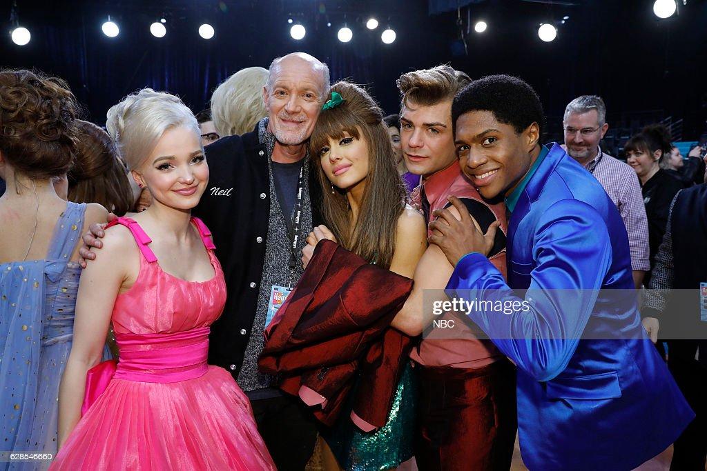 LIVE! -- 'Live Show Events' -- Pictured: (l-r) Dove Cameron, Neil Meron, Ariana Grande, Garrett Clayton, Ephraim Sykes --