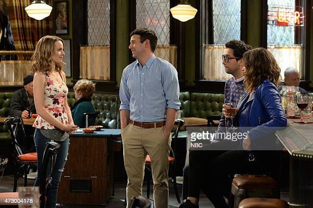 UNDATEABLE A Live Show Walks Into A Bar Episode 209 Pictured Bridgit Mendler as Candace Brent Morin as Justin Rick Glassman as Burski Bianca Kajlich...