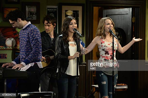 UNDATEABLE A Live Show Walks Into A Bar Episode 209 Pictured Rick Glassman as Burski Waz as himself Victoria Justice as Amanda Bridgit Mendler as...