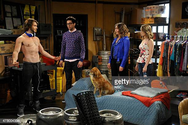 UNDATEABLE A Live Show Walks Into A Bar Episode 209B Pictured Adam Hagenbuch as Trent Rick Glassman as Burski Bianca Kajlich as Leslie Bridgit...
