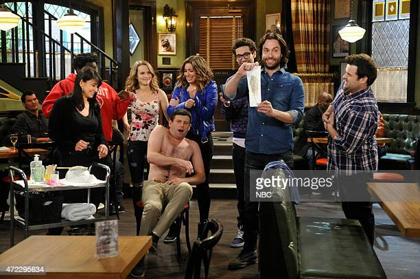 UNDATEABLE A Live Show Walks Into A Bar Episode 209B Pictured Ron Funches as Shelly Bridgit Mendler as Candace Brent Morin as Justin Bianca Kajlich...