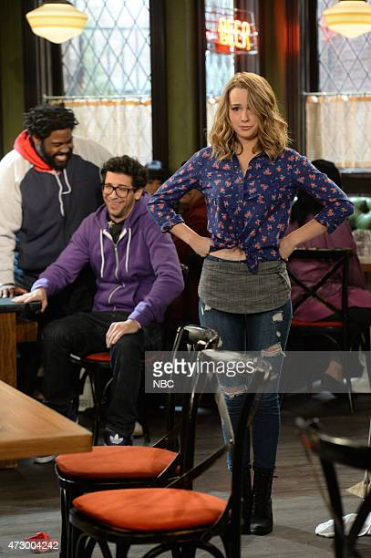 UNDATEABLE A Live Show Walks Into A Bar Episode 209B Pictured Ron Funches as Shelly Rick Glassman as Burski Bridgit Mendler as Candace