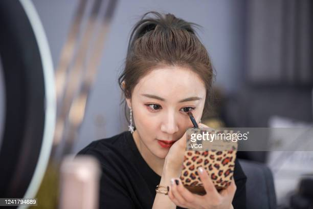 Live streamer Viya Huang Wei prepares for live streaming on the e-commerce platform Taobao on April 16, 2019 in Hangzhou, Zhejiang Province of China.