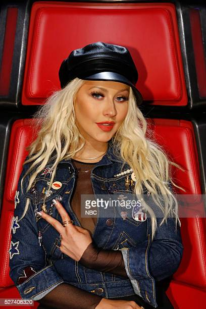 THE VOICE 'Live Top 10' Episode 1015A Pictured Christina Aguilera