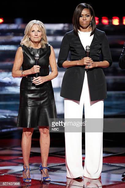 THE VOICE Live Top 10 Episode 1015A Pictured Dr Jill Biden Michelle Obama