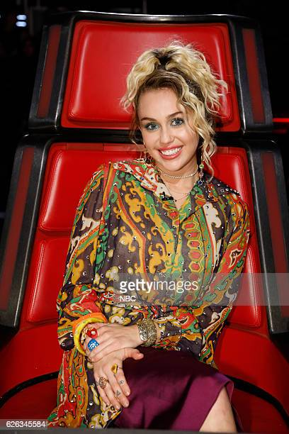 THE VOICE 'Live Top 10' Episode 1116A Pictured Miley Cyrus